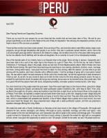 Zach Foust Jr. Prayer Letter: Action-Packed Months in Peru!