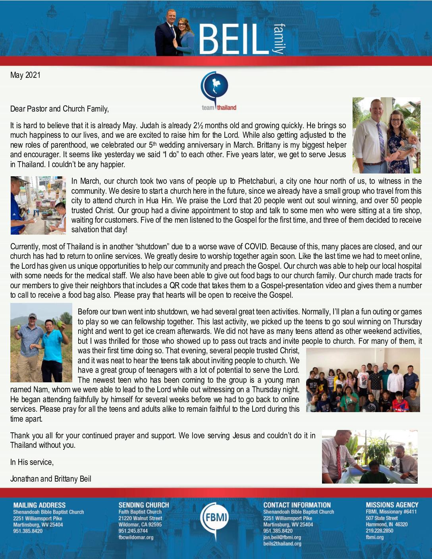 thumbnail of Jonathan Beil May 2021 Prayer Letter