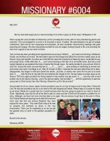Missionary #6004 Prayer Letter: What a Spring the Lord Provided!