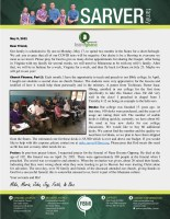 Mike and Maria Sarver Prayer Letter: Church Finance - Part 2