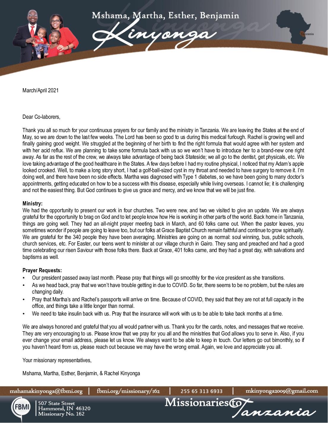 thumbnail of Mshama Kinyonga Mar-Apr 2021 Prayer Letter