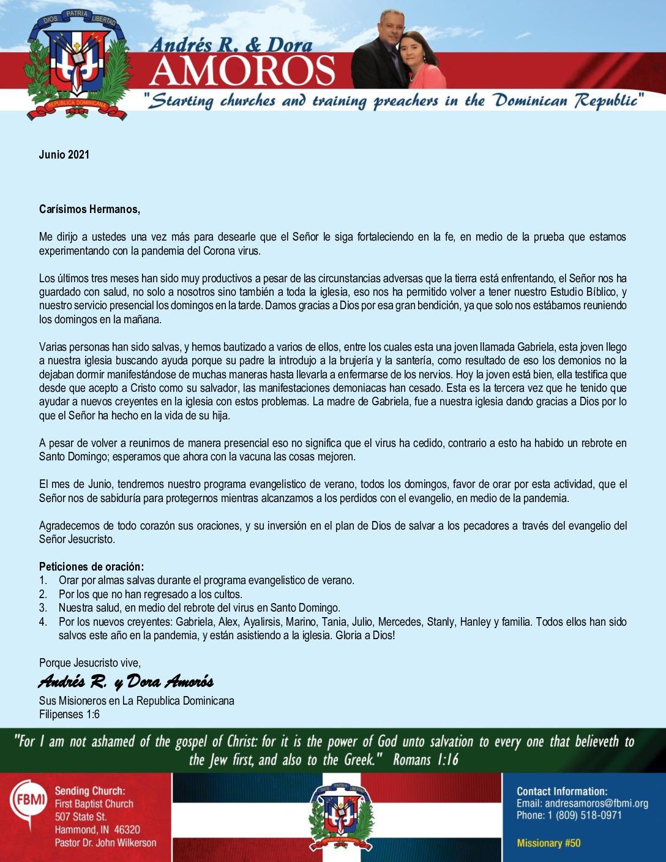 thumbnail of Andres Amoros June 2021 SPANISH Prayer Letter