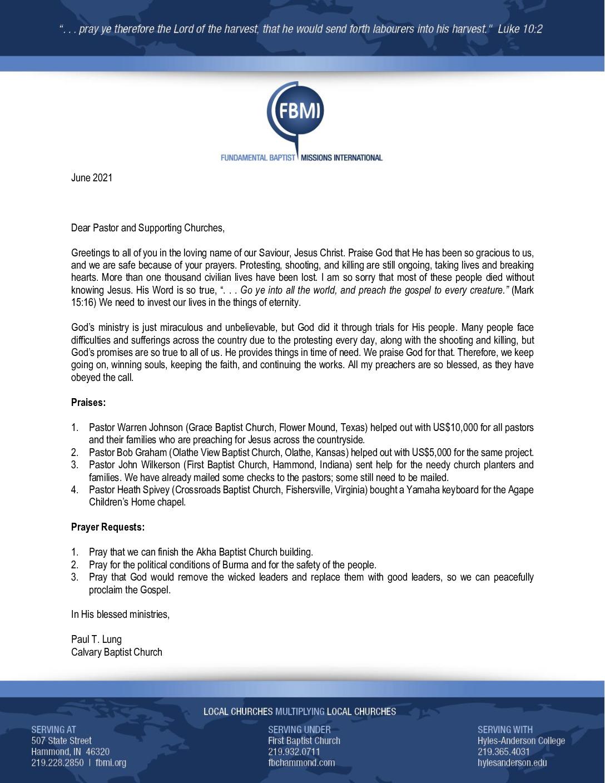 thumbnail of Paul Lung June 2021 Prayer Letter – Revised