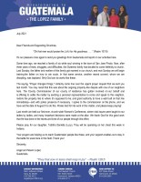 Angel and Noemi Lopez Prayer Letter: Prayer Changes Things
