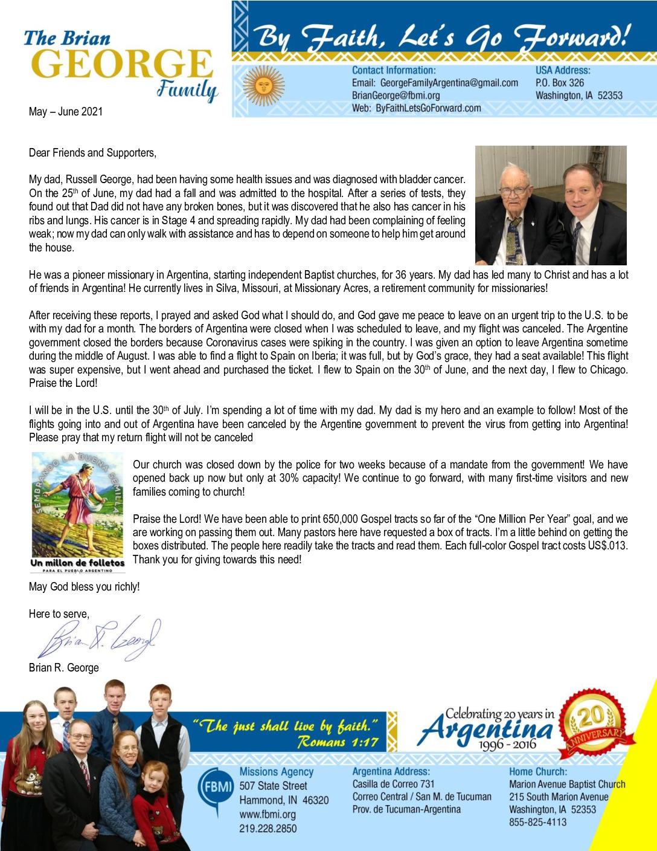 thumbnail of Brian George May-Jun 2021 Prayer Letter