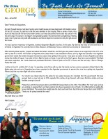 Brian and Liesl George Prayer Letter: Emergency Furlough