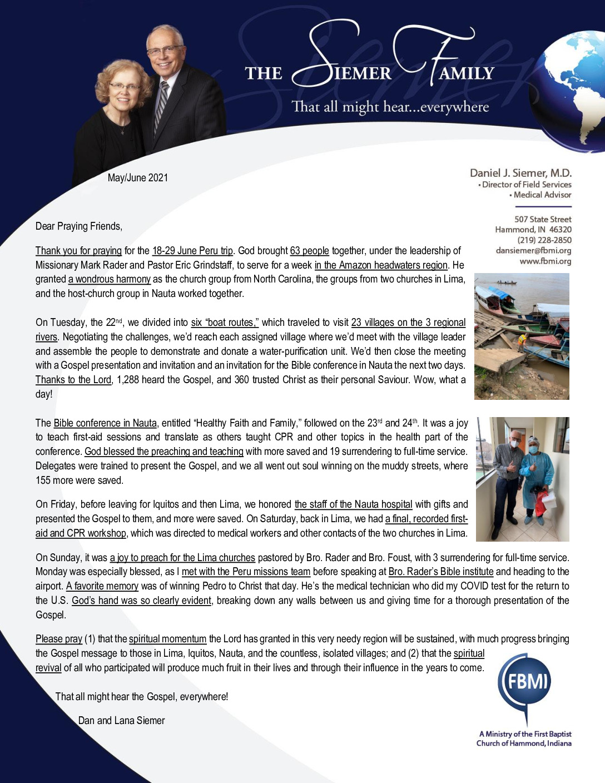 thumbnail of Dan Siemer May-Jun 2021 Prayer Letter
