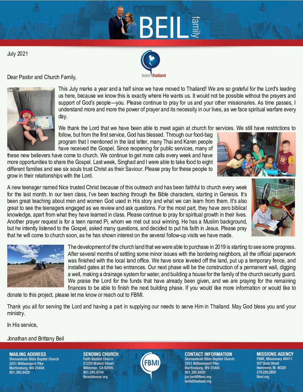 thumbnail of Jonathan Beil July 2021 Prayer Letter