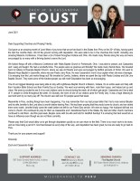 Zach Jr. and Cassandra Foust Prayer Letter:  An Amazing Month of Blessings
