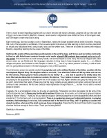 Missionary #6505 Prayer Letter: A Shifted Focus Due to Recent Events