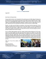 Mark and Kim Palmani Prayer Letter:  Getting Ready for Another Year of Our Bible College