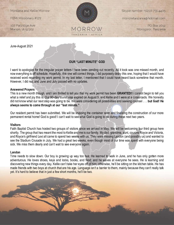 thumbnail of Montana Morrow Jun-Aug 2021 Prayer Letter – Revised