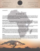 """Montana and Kellie Morrow Prayer Letter: Our """"Last Minute"""" God!"""