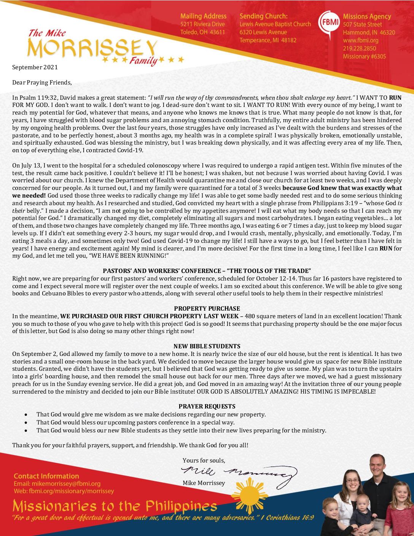 thumbnail of 09 Mike Morrissey September 2021 Prayer Letter