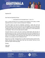Angel and Noemi Lopez Prayer Letter: The Start of a New Work