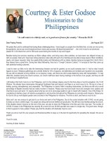 Courtney and Ester Godsoe Prayer Letter: The Lord's Hand Is Not Shortened!