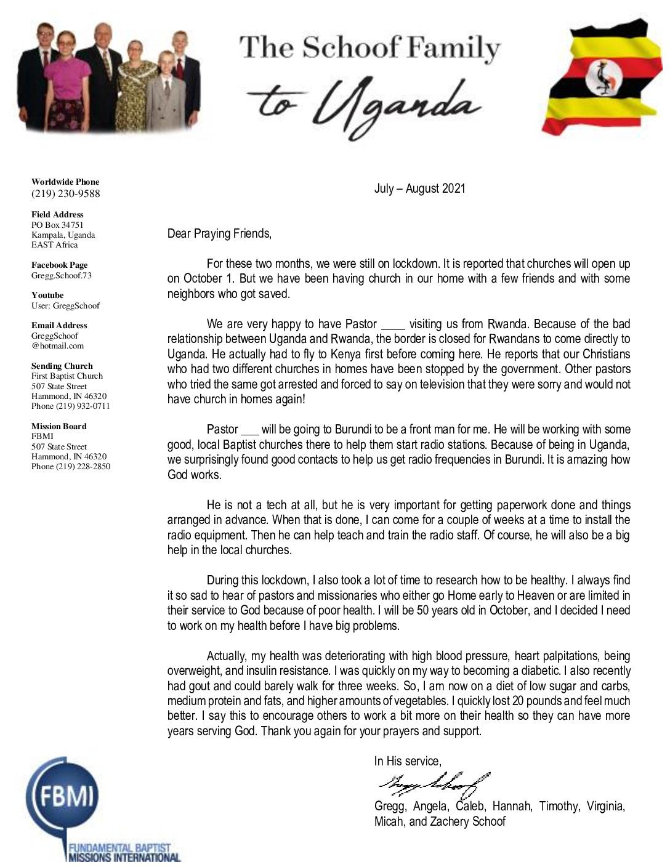 thumbnail of Gregg Schoof Jul-Aug 2021 Prayer Letter