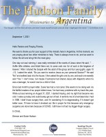 Simeon and Susie Hudson Prayer Letter: Let the Children Come