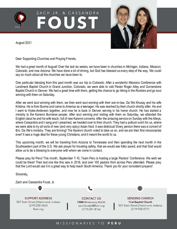 thumbnail of Zach Foust Jr. August 2021 Prayer Letter – Revised