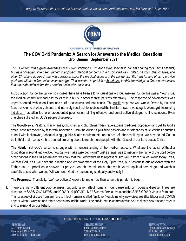 thumbnail of COVID Update – September 2021 – Revised