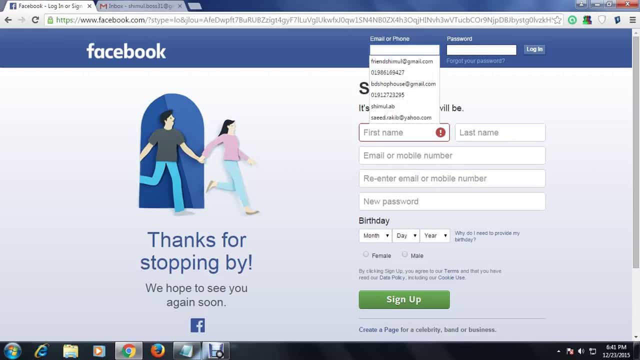 how to log into facebook when it is blocked