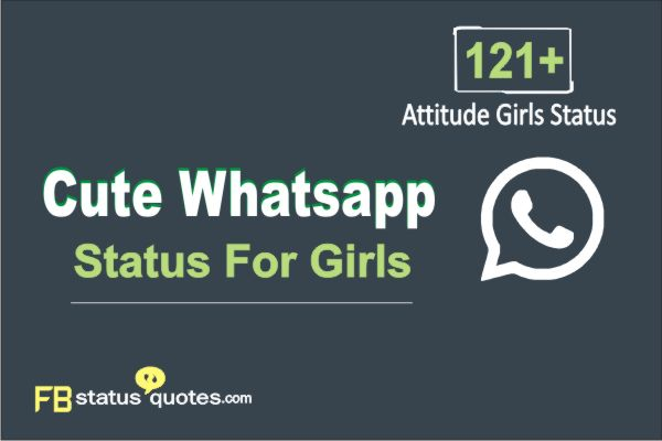 Cute Whatsapp Status For Girls