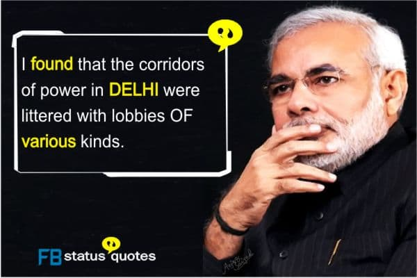 Narendra Modi  quotes for Facebook