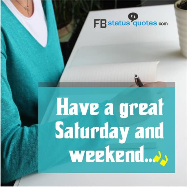 Have a great Saturday and weekend...