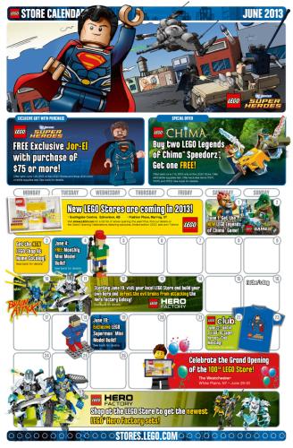 June Store Calendar Page 1
