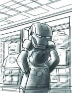 Avengers AI #4 - LEGO Sketch Variant