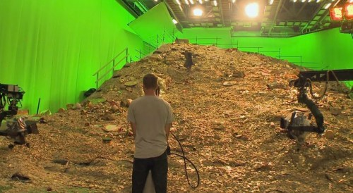 Apparently Peter Jackson demands payment in gold and stores it in front of a greenscreen