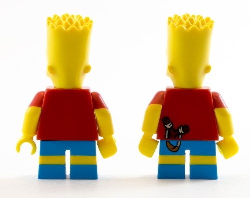 71016 Bart Simpson Back Comparison