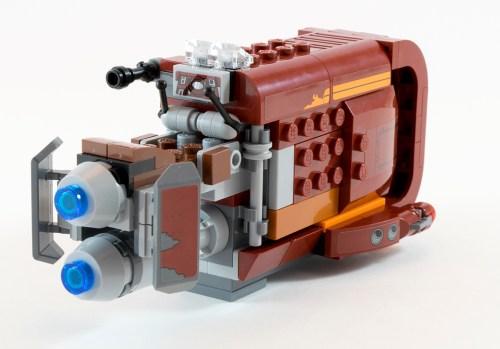 75099 Rey's Speeder Back Angle