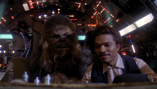 I wonder if Lando ever had his arms ripped off by a Wookiee