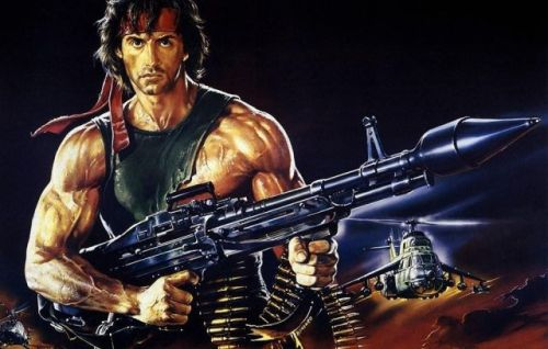 Fun fact. In the first movie featuring Rambo, First Blood... there was exactly one death, and it was accidental