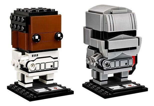 Finn and Captain Phasma BrickHeadz
