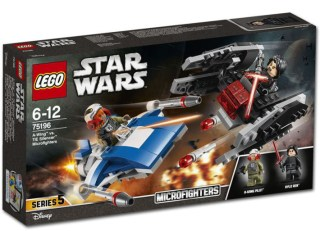 75196 A-Wing vs. TIE Silencer Microfighters