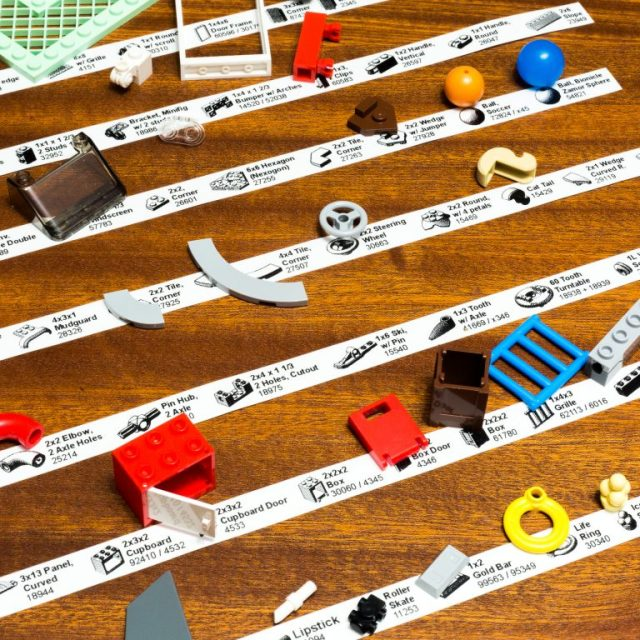 LEGO sorting labels