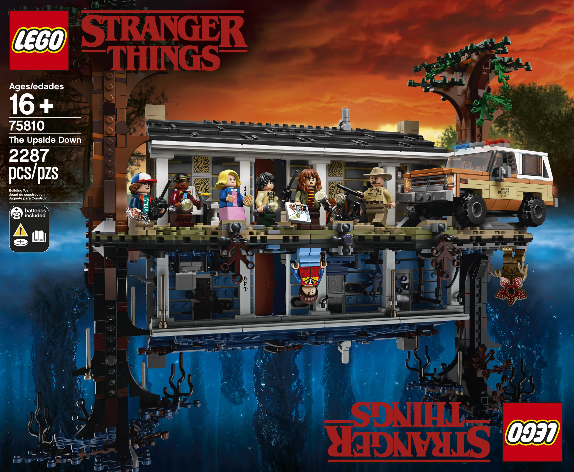 LEGO Officially Reveals Stranger Things Set 75810 The Upside