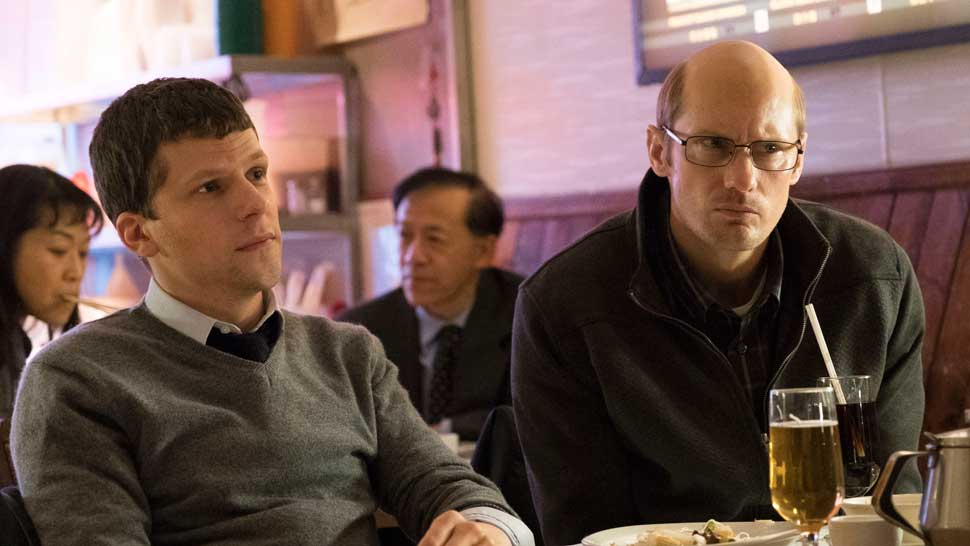 The Hummingbird Project (L to R) Jesse Eisenberg and Alexander Skarsgård. Courtesy of The Orchard.