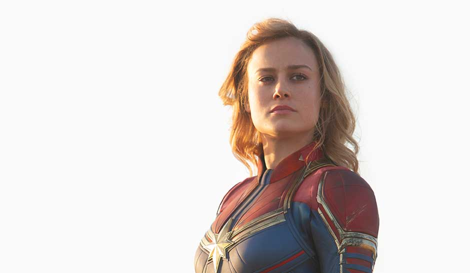 Marvel Studios' CAPTAIN MARVEL..Captain Marvel (Brie Larson)..Photo: Chuck Zlotnick..©Marvel Studios 2019