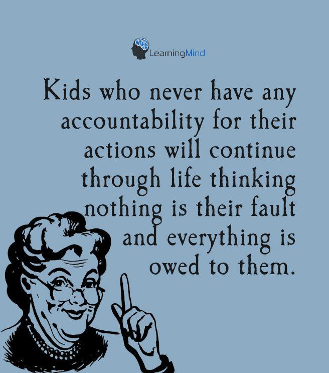 孩子们的所作所为没有任何责任