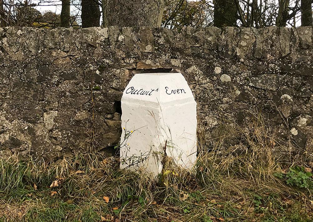 Andrew Demetrius, signpost in NE Fife countryside