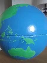 Annie Adair, hand-painted globe