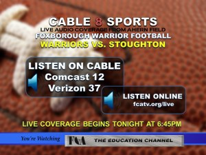 Live Foxborough Warrior Football