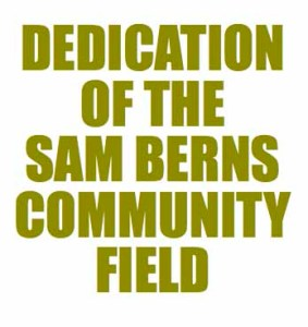 Sam Berns Field Dedication