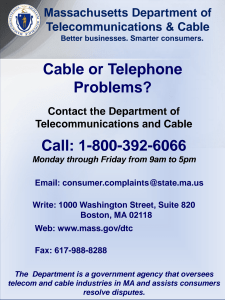 Cable or Telephone Problems?