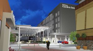 A rendering of the Hilton Garden Inn Foxborough/Patriot Place, which is expected to open this fall.