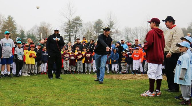 Youth Baseball & Softball Honors New England Patriots On Opening Day