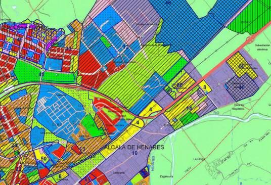Plano urbanístico de Alcalá de Henares